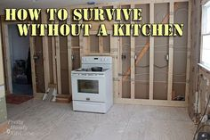"""""""How to Survive without a Kitchen during Renovation"""" - She's done it with a family, and has some good tips and warnings. by PrettyHandyGirl"""