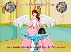 Felicitaciones de cumpleaños para un angel, http://www.riotarjetas.com/tarjetas_de_cumpleanos.html Tarjetas de cumpleaños de ángeles desde RioTarjetas.com