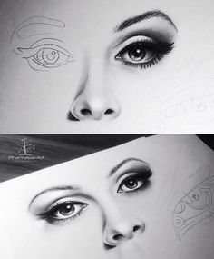 Eyes, nose and lips pencil drawing tutorial. by Eyes, nose and lips pencil drawing tutorial. Lip Pencil, Pencil Art, Pencil Drawings, Eye Drawings, Pencil Drawing Tutorials, Art Tutorials, Drawing Lessons, Drawing Techniques, Painting & Drawing