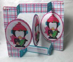 Card Gallery - Christmas Penguin 2 Tri Fold Card