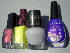 Wibo 74, Aisha 237, Vollare Sexi Flex 388 and Lovely Color Mania 117