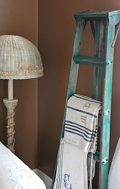 Ladder used in room decor