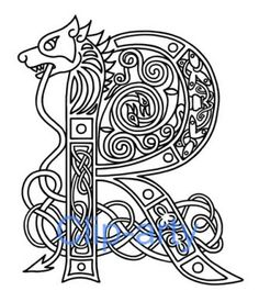 illuminated letters alphabet - Google Search