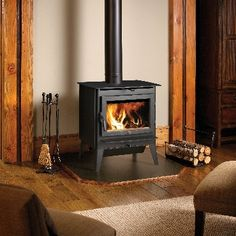 """Lopi """"Evergreen"""" Wood Stove with Legs"""