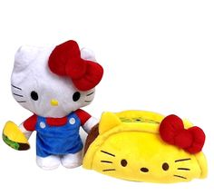 Hello Kitty Taco Reversible Plush : Taco transform to Hello Kitty Hello Kitty Plush, Ecommerce Platforms, Fictional Characters, Art, Art Background, Kunst, Performing Arts, Fantasy Characters, Art Education Resources