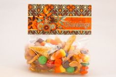 Thanksgiving Blessings Mix Printable Bag Topper