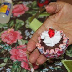 Cupcake de feltro