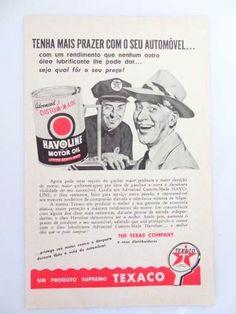 antiga publicidade da texaco, anos 50!!! carro