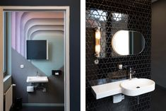For their design of a new dentist's office in Berlin, Studio Karhard won the 2019 Frame Award for Healthcare Centre of the Year. Berlin Nightlife, Berghain, Bars And Clubs, Healthcare Design, Bathroom Inspiration, Night Life, Bathroom Lighting, Wall Lights, Designers