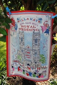 Cath Kidston tea towel for the royal wedding