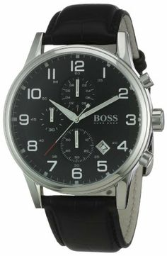 Vous recherchez une montre Hugo Boss ? Découvrez nos meilleures ventes.  Hugo Boss - 1512448 - Montre Homme - Quartz Analogique - Cadran Noir - Chronographe - Bracelet Cuir Noir de Hugo Boss, http://www.amazon.fr/dp/B003CSHV2C/ref=cm_sw_r_pi_dp_fgp7rb1AZ4XNB