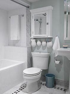 Merveilleux Weird Pots Hanging Over Toilet...love The Crisp, Clean Look Of