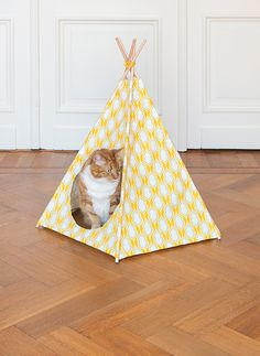 cat-tipi--Teepee for stuffed animals Diy Tipi, Diy Cat Tent, Cat Teepee, Crazy Cat Lady, Crazy Cats, Diy Old Tshirts, Cutest Kittens Ever, Diy Paso A Paso, Cats Diy