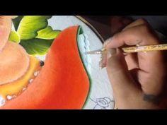 Pintura en tela niña papaya # 5 con cony - YouTube