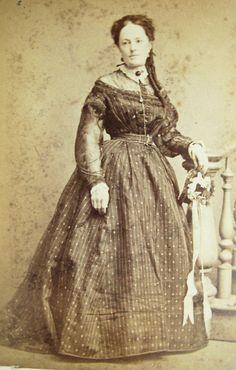 CIVIL WAR ERA CDV PORTRAIT OF LOVELY YOUNG WOMAN WEARING LOVELY SHEER HOOP DRESS | eBay