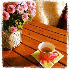 Te i høstsol