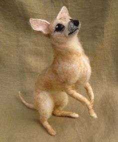 Needle felted dog custom sculpture of your pet by Ainigmati