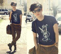 Sometimes (by Vini Uehara) http://lookbook.nu/look/3934406-Reverbcity-Donnie-Darko-Tshirt-Guidomaggi-Boots