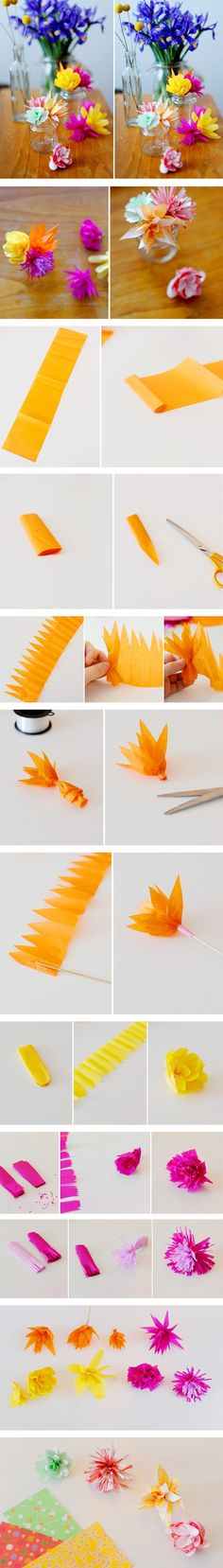 these flowers are the cutest and easiest to make! STEP BY STEP INSTRUCTIONS