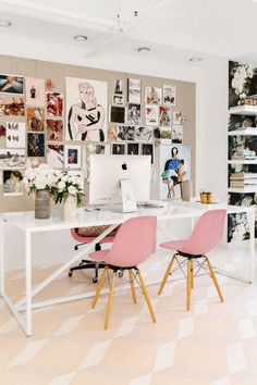 If you are one who works at home or remotely, then the presence of home office alias work space at home is a need worthy to consider. By having your own work space in your home, then you will feel … Cores Home Office, Home Office Colors, Pink Office, Home Office Design, Home Office Decor, Home Decor, Office Designs, Modern Office Decor, Home Design