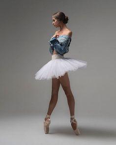 151be650a8c9 Isobelle Dashwood (Australian (dancer (brunette (body (by Taylor-Ferne  Morris (coat denim (one-piece sports (legs (standing side (studio