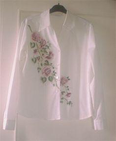 Hand painted  shirt - DecoArt So Soft fabric Paint