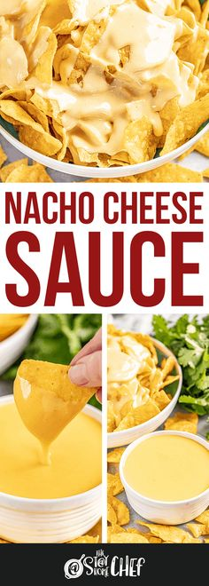 Nacho Cheese Sauce is ridiculously easy to make, and tastes so much better than store bought. Enjoy it as a dip or on a plate of nachos.
