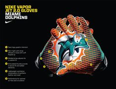 dolphins football gloves - Google Search