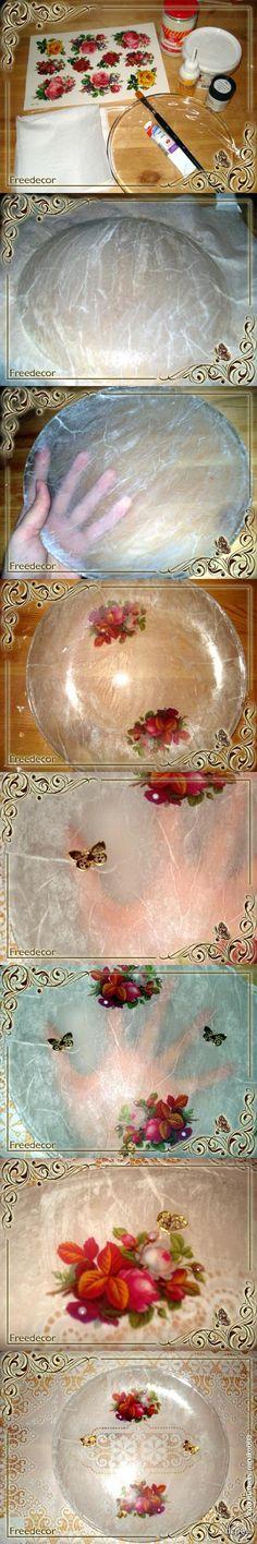 Декупаж - Сайт любителей декупажа - DCPG.RU | Тарелочка с розами