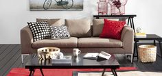 Colourful cushions are an easy way to brighten up a room