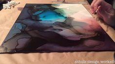 "Video | Sarah Schulz | 12x16"" Alcohol Ink on Claybord"
