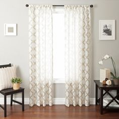 Darling curtains for the sliding glass windows