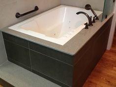 The Nirvana deep soaking tub, shown undermounted and with an external step – Loi… – jamar phelps 430 - Decoration Deep Soaking Bathtub, Deep Tub, Soaking Bathtubs, Japanese Bathtub, Japanese Soaking Tubs, Bathroom Bath, Bathroom Kids, Bath Tub, Bathrooms