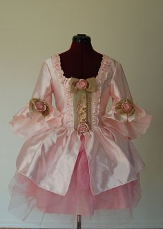 Pink Cotton Candy mini Marie Antoinette rococo Victorian inspired dress with tutu. $195.00, via Etsy.