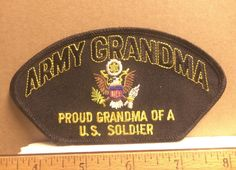 Army Grandma - Proud Grandma of a U.S. Soldier Embroidered Patch