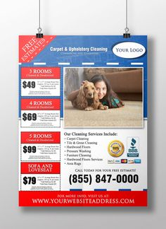 Cool Carpet Cleaning 8.5 x 11 Flyer Design - Professional Business ...