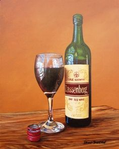 Tassenberg Red Wine. Many a student hangover brought on by too much Tassies.