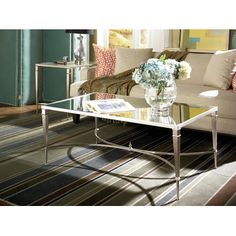 coffee table - mirror and glass