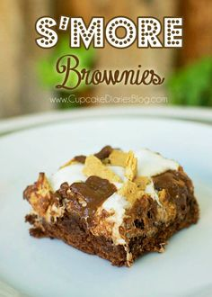 Smore Brownies #smore #brownie #marshmallow #dessert
