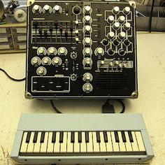 """""""the initial idea was to build a mini synthesizer with a detachable keyboard and as many controls and effects as i could fit. i decided to be courageous and model the toy synth on the notoriously stubborn yamaha pss-30."""""""