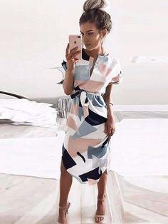 Shapes - Geometric Pencil Dress