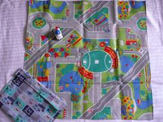 Boys  Cars and Roads Playmat by PoppyDesignsGifts on Etsy