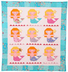 Aloha Mermaid Quilt Pattern. - Red Brolly