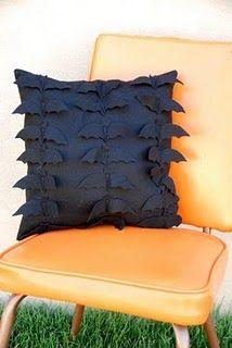 Felt bat pillow! Love this