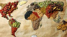 Weltkarte mit Würze