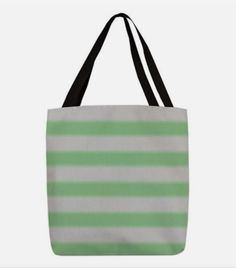 Shop Bold Green Stripes Polyester Tote Bag designed by BrightVibesDesign. Lots of different size and color combinations to choose from. Green Gifts, Reusable Bags, Green Stripes, Bag Making, Green Colors, Shopping Bag, Stylish, Colors Of Green, Shopping Bags