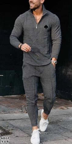 Free Shipping Over $79+ #mens fashion #mens suit #winter # casual jogging #discount #shorts sports suit #long sports suit Cool Outfits For Men, Stylish Mens Outfits, Sneakers Outfit Men, Black Men Street Fashion, Casual Wedding Suit, Style Masculin, Cooler Look, Mens Fashion Suits, Mens Outdoor Clothing