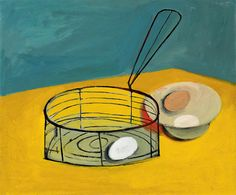 William Scott, Frying Basket and Eggs, 1948, Oil on canvas, 46 × 54.8 cm / 18 × 21½ in, National Gallery of Canada, Ottawa