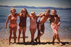 Lake Tahoe with the Fromme's - That is me in the middle!