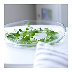 IKEA - BLOMSTER, Bowl, , The glass bowl is mouth blown by a skilled craftsperson.Soft feet stabilizes the bowl and protects the underlying surface.